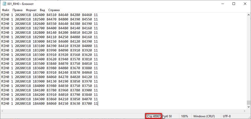 QUIK LUA TSLab Файл сданными для торгового робота